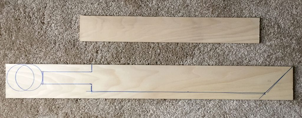 Template for cutting out my sword.